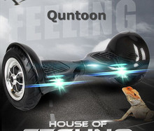 Quntoon two wheel smart balance electric scooter 2 wheels 10inch balance scooter with Bluetooth