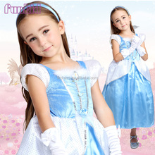 2014 wholesale breathable cinderella princess costume for girls