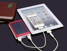 New Solar Power Bank power bank 10000mah external battery solar charger powerbank for all mobile phone