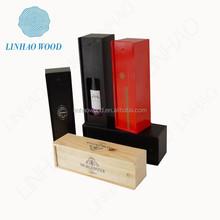 wooden wine bottle carrier case