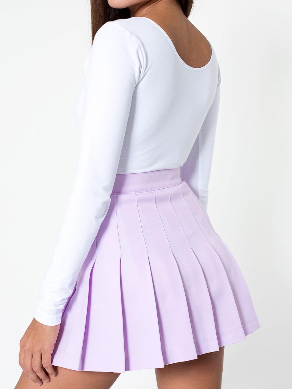 women hollow mini skater skirt