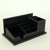 cheap pu leather executive desk accessory set