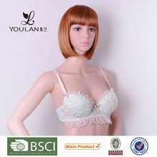 High Quality Pretty Pattern Young Girl Back Closure Bras For Kids