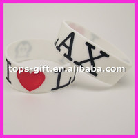 Customized debossed silicon rubber band