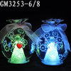 Wholesale clear candy shaped glass christmas ornaments with bow