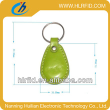 leather rfid keyfob for access controlling