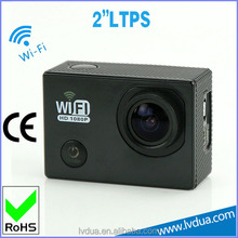 170 wide viewing angle fhd wifi control time lapse camera Manufacturer 2inch screen