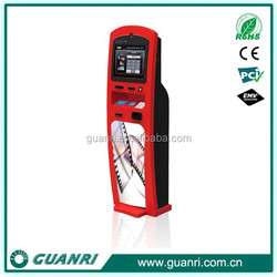 China supplier Guanri K11 mobile recharge card payment and top-up information kiosk, ticket vending machine cost effective