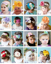 High Quality Cloth Material Infant Hair Accessories Flowers 0-3years Baby Girl Headbands