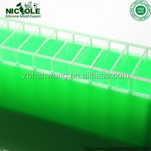 zibo Nicole silicone rubber toast mold with divider soap and bread loaf soap molds loaf mould with thwartwise compartments D0010