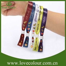 Eco-friendly cheap custom fabric wristband for city party