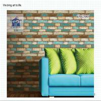 2015 Newest Attractive Brick Living room3D Wallpaper