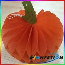 Tissue paper honeycomb pumpkin