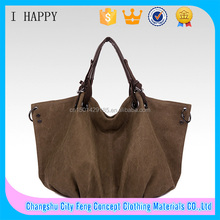 Fasion Washed women Canvas hobo bag tote ladies handbag