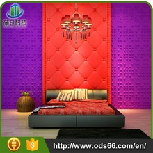 2015 Flower embossed fireproof 3d wall panel wall paper