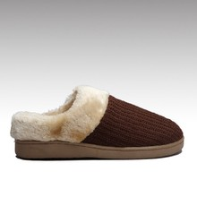 HC-960 Knitted upper plush lining TPR outsole cheap girls soft fleece indoor slippers for winter