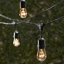 Bulbrite String15/E26-S14KT Outdoor String Light with Incandescent 11S14 Bulbs w