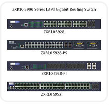 ZXR10 5900 ---- L3 all gigabit routing switches, box-like 1RU-high layer 3 routing switches.