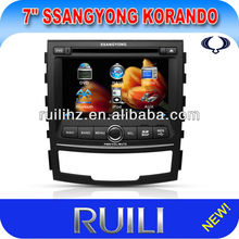 7 inch GPS DVD Player BT Audio Radio TV Ipod for SsanngYongKorando