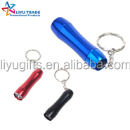 cheap 3LED mini aluminium alloy LED flashlight/torchlight with keyholder