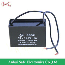 CBB61 450V 18uF fan capacitor manufacturer / distributer