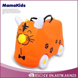 2015 Ero-friendly plastic suitcase kids' cute cheap travel luggage
