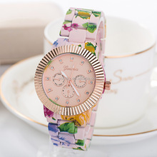 2015 China factory ladies geneva floral japan movement quartz watch sr626sw