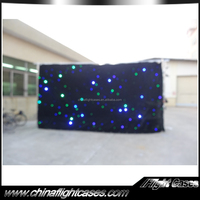 factory price stage performance clothing stage decoration rgb star curtain