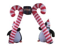 2015 vivid good quality inflatable Christmas decoration penguins