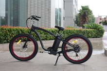 buy 26'' electric fat tire bike beach cruiser in china