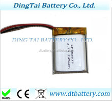 352533 Digital watch battery rechargeable li ion polymer batteries 3.7V 245mah