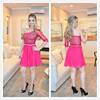 Fashion Short Puffy Homecoming Dress One Shoulder Long Sleeve Prom Dresses