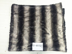Black Stripe Fuzzy Fur Bed Throws Fitted Sofa Covers