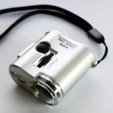 Mini 60X Pocket Microscope LED Lighted Microscope