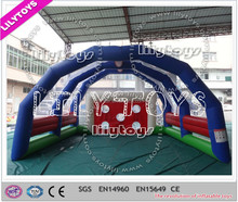 Lilytoys! Commercial indoor Inflatable Soccer Shoot Inflatable Football Goal Football Game For Rental