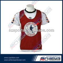 moda personalizzati poliestere sublimazione reverssible lacrosse maglia