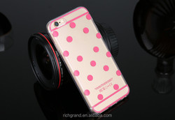 Fashion Polka Dots Printed Soft TPU Gel Transparent Skin Cover for iphone 5 6 6plus protective case