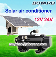 solar chiller with mini air conditioner dc compressor 12v 24v 48v