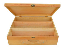 china manufacturers selling FSC&SA8000 pine hinge&lock wooden wine box for factory suppliers wholesale