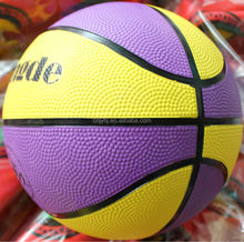 Super quality promotional exercise rubbery basketball