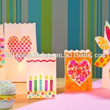 2014 the best popular party decoration paper candle bags