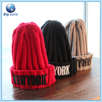 2015 Winter Warmer Knitting New Style Knit Women Hat And Knitted Cap And Hatknit beanie hat