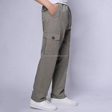 High quality latest plain khaki men's casual trousers