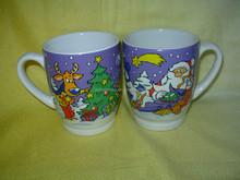 custom snowman printing cheap christmas ceramic coffee mug for promotion