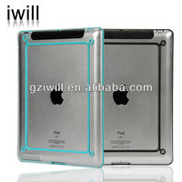 2014 Best selling products phone accessory light and strong protective PC bumper case for ipad2/3/4