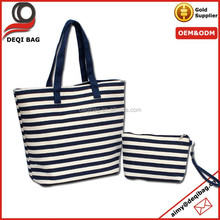 Striped Canvas Shoulder Bag/women bags/hand bags