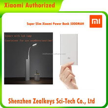 Authorized Dealer For Red Silver Slim Portable Xiaomi Power Bank 5000 mAh