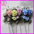 2 jefes de seda artificial flores de la boda hortensias