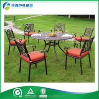Outdoor Patio Furniture Leisure Cast Aluminum Solid Surface Cafe Table Chair Set
