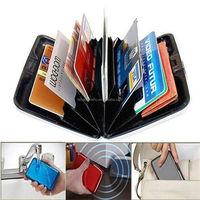2015 promotion sakes Waterproof Business ID Credit Card Wallet Holder Aluminum Metal Pocket Case Sale